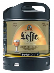 Leffe blonde beer from Belgium Perfect Draft 6 liter keg 6,6 % vol.