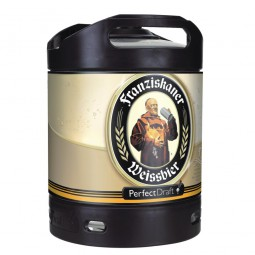 Franziskaner Weissbier wheat beer Perfect Draft 6 liter keg 5.0% vol.
