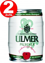 2 x Ulmer Pilsner Party barrel 5,0 liter 5,2% vol.