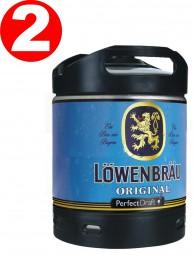 2 x Löwenbräu Original beer Perfect Draft 6 liter drum 5.2% vol