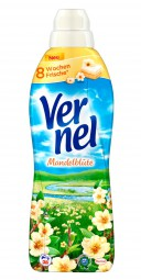 4 x Vernel almond blossom softener 1L